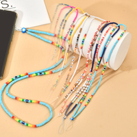 ZMZY-correa de teléfono móvil para mujeres y niñas, cordón colgante de cuello de mano, cuerda de silicona colorida para funda de teléfono móvil