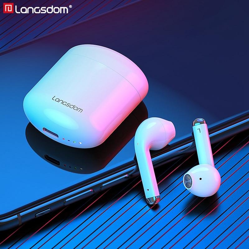 Новые Langsdom настоящие беспроводные наушники TWS Bluetooth 5,0, наушники с шумоподавлением, стерео наушники с двойным микрофоном