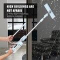 Fenster Glas Wischer Reiniger Pinsel Stange Wäscher Teleskop Fenster Reiniger Schaber Mit Spray Kopf Haushalt Reinigung Werkzeuge-in Reinigungsbürsten aus Heim und Garten bei