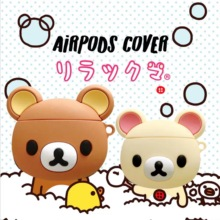 3D Cute Earphone Case for Airpods 2 Case Anime Baby Silicone Duck Headphone Protector Cover for Appl