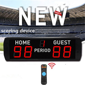 5 Digits LED Electronic Scoreboard Indoor Use Basketball/Football Game Scoreboard HOME and GUEST IR remote contr score board