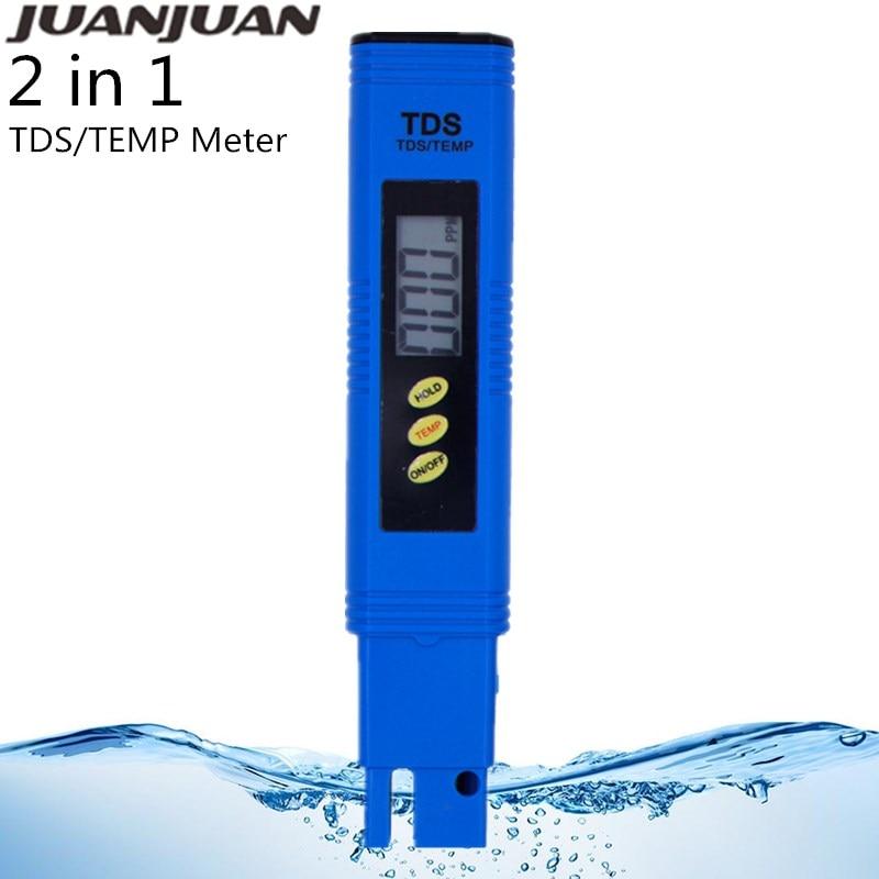 Цифровой измеритель чистоты воды, измеритель чистоты воды, термометр, тестер качества воды для мочи бассейна, Скидка 40%, 2 в 1