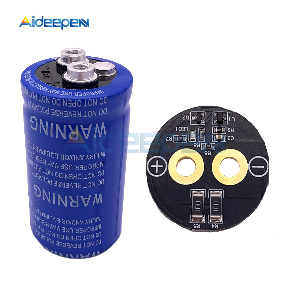 Super Farad Capacitor 2.7V 360F 35*67mm High Frequency Low ESR Screw Feet Super Capacitor With Protection Board For Car