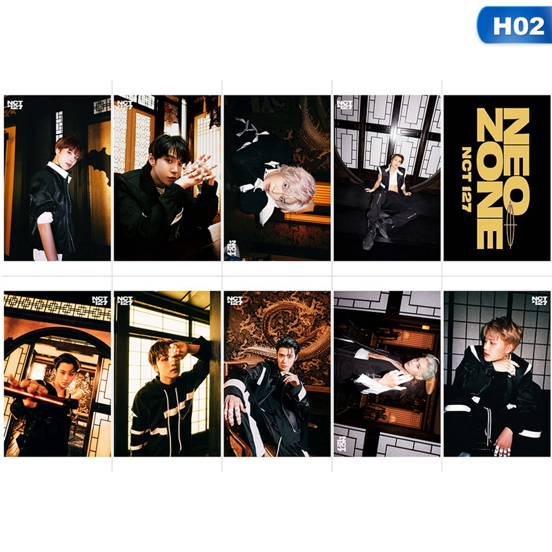 10PCS/Set KPOP NCT 127 New Album NeoZone Photo Card Poster Lomo Cards Crystal Paper  Photocard Fans Gift Collection
