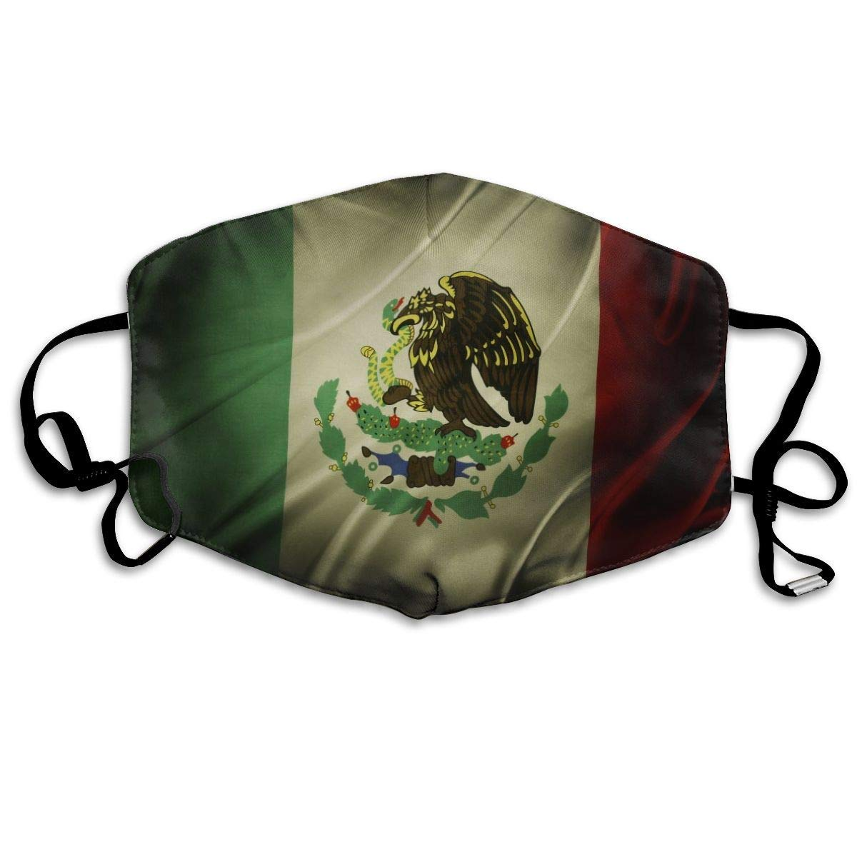 Breathable Anti Dust Mouth Mask With Adjustable Earloop, Warm Windproof Reusable Washable Half Face Mask, Retro Mexico Flag
