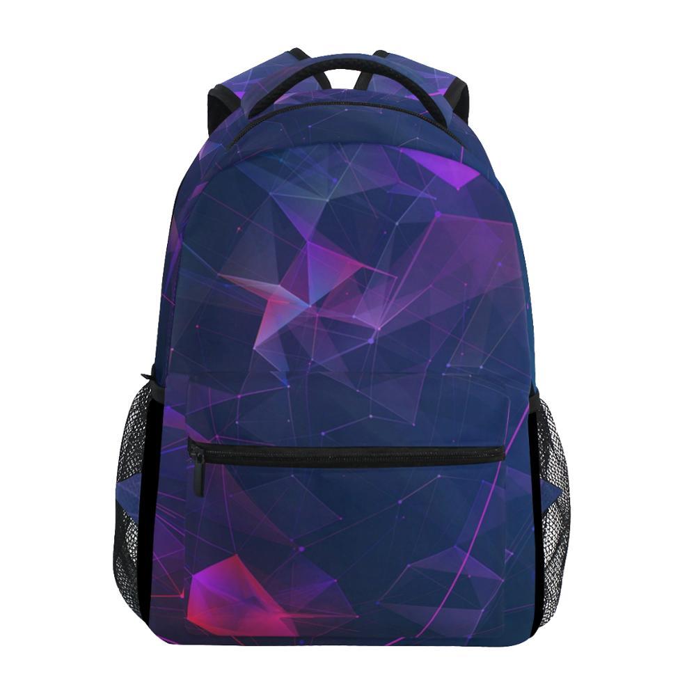 ALAZA Laptop Backpack Travel-Bag Girls Student Geometric Big-Capacity Boy New Arrvial