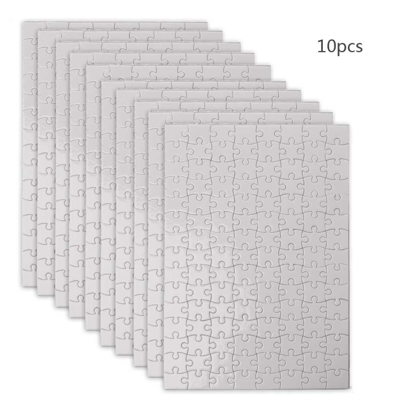10 Packs Handmade Jigsaw Puzzles A4 A5 Sublimation Blanks Puzzles DIY Puzzle Blank Custom Puzzle for Heat Transfer Craft