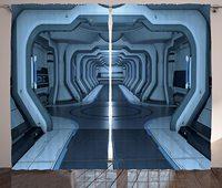 ستائر الفضاء الخارجي داخل محطة الفضاء التحكم غرفة مرور تكنولوجيا الاتصالات قاعدة غرفة المعيشة غرفة نوم نافذة الستارة