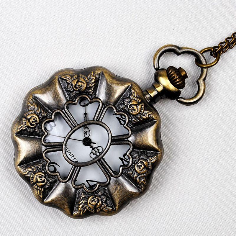 Retro Palace Wind Large Lotus Leaf White Pocket Watch Supply Fashion Antique Watch