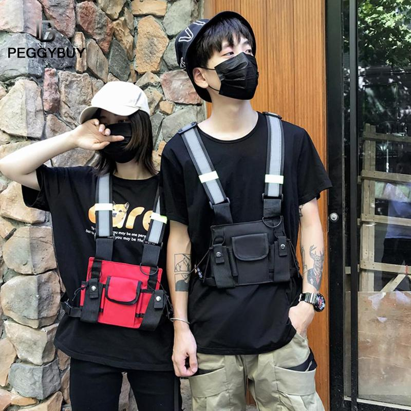 Chest Bag For Men Hip Hop Harness Chest Rig Bag Vest Streewear Women Tactical Shoulder Bag Multi-function Travel Casual Rucksack