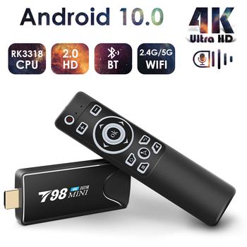 Mini Android Tv Stick Box TV Android 10 4K Android Tv pudełko inteligentna przystawka wi-fi do telewizora Tv pudełko odtwarzacz multimedialny odbiornik Tv dekoder Android 10 tanie i dobre opinie HAIMAITONG Rohs Brak CN (pochodzenie) RK3318 Quad-kor 16 GB eMMC 32 GB eMMC 2G DDR3 4G DDR3 802 11n 2 4GHz 5 GHz 802 11n 2 4 GHz