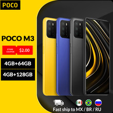 Version mondiale POCO M3 Smartphone 4GB 64GB/128GB Snapdragon 662 Octa Core 6.53