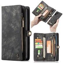 สำหรับ Galaxy Note 10 Case Premium Cowhide หนังซิปกระเป๋าสตางค์แม่เหล็กที่ถอดออกได้สำหรับ Samsung Galaxy Note 10 PLUS a50
