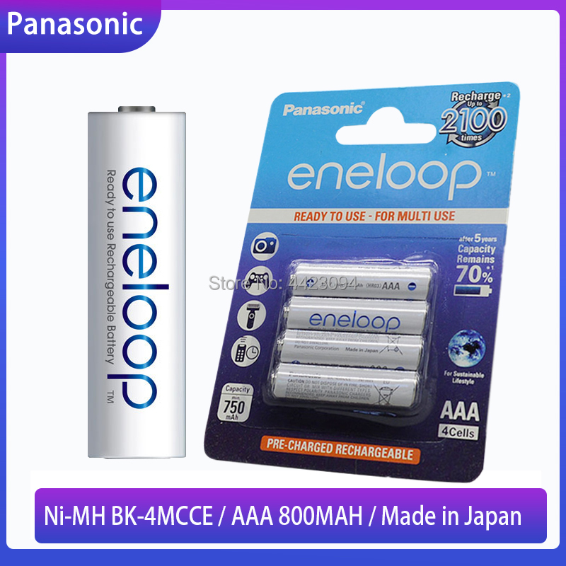 Panasonic Eneloop Original AAA Rechargeable Battery 1.2v 800mAh Pre-charged Ni-MH AAA Batteries For Camera Flashlight Torch Toys