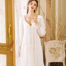 2019 Sexy Victorian Sleep Wear Night Dress Vintage Nightgown