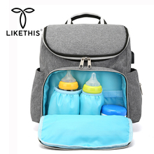 LIKETHIS Diaper Bag Mummy Bags Nappy Maternity Backpack Insulated Large Capacity Travel Rucksack Mochilas Mujer Sac A Dos Femme