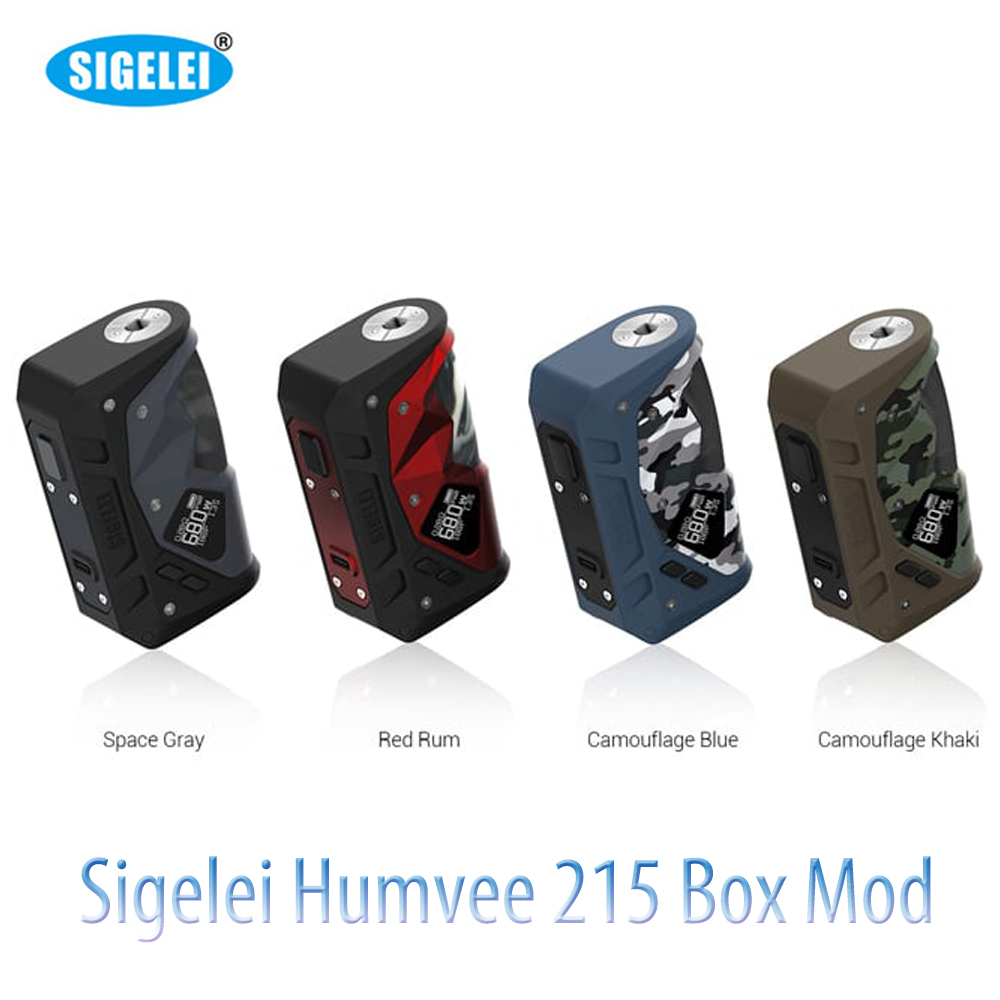 Sigelei Humvee 215 Mod Powered By Dual 18650 215W Vape Humvee Box Mod Fit 510 Thread Tank  VS Aegis Legend