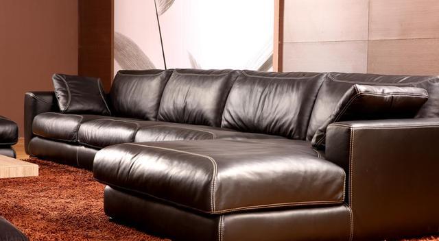 Genuine Leather L Shaped Corner Sofa 4