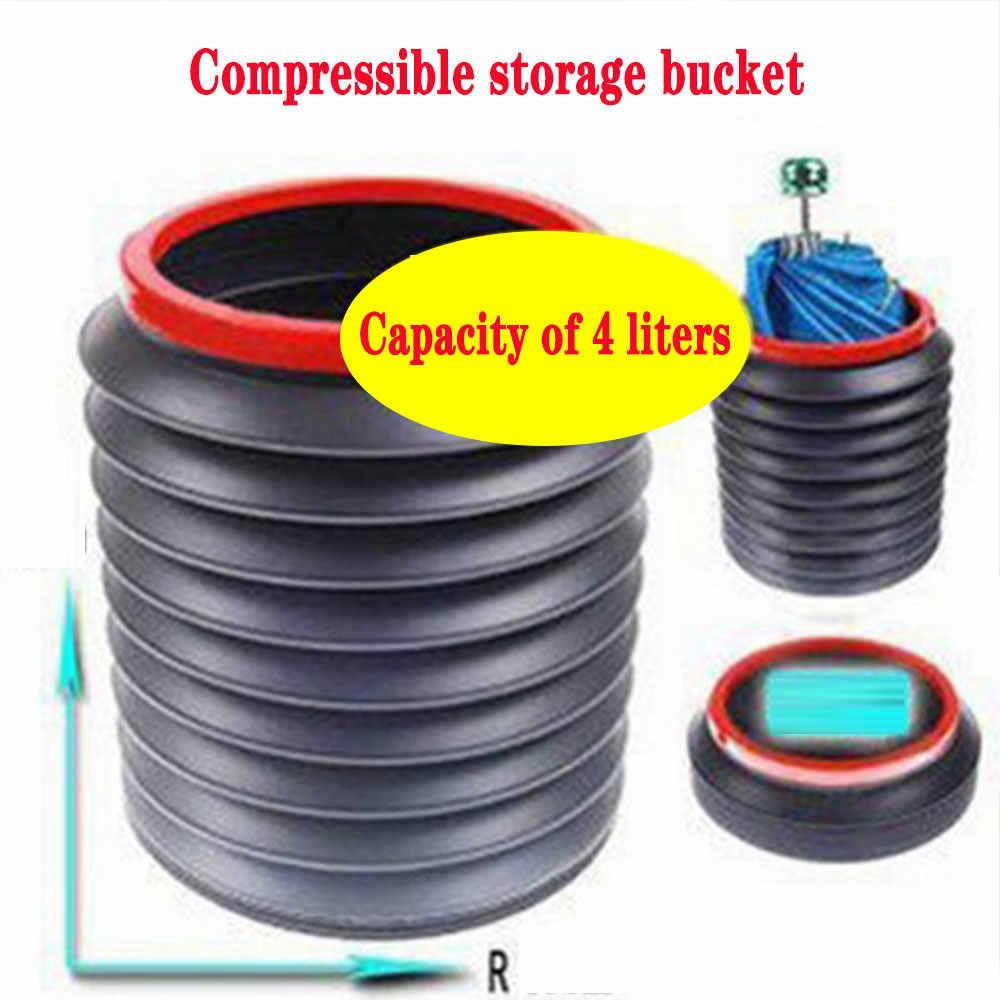 4L Portable Foldable Telescopic Car Trash Bin Can Multi-function Storage Bucket