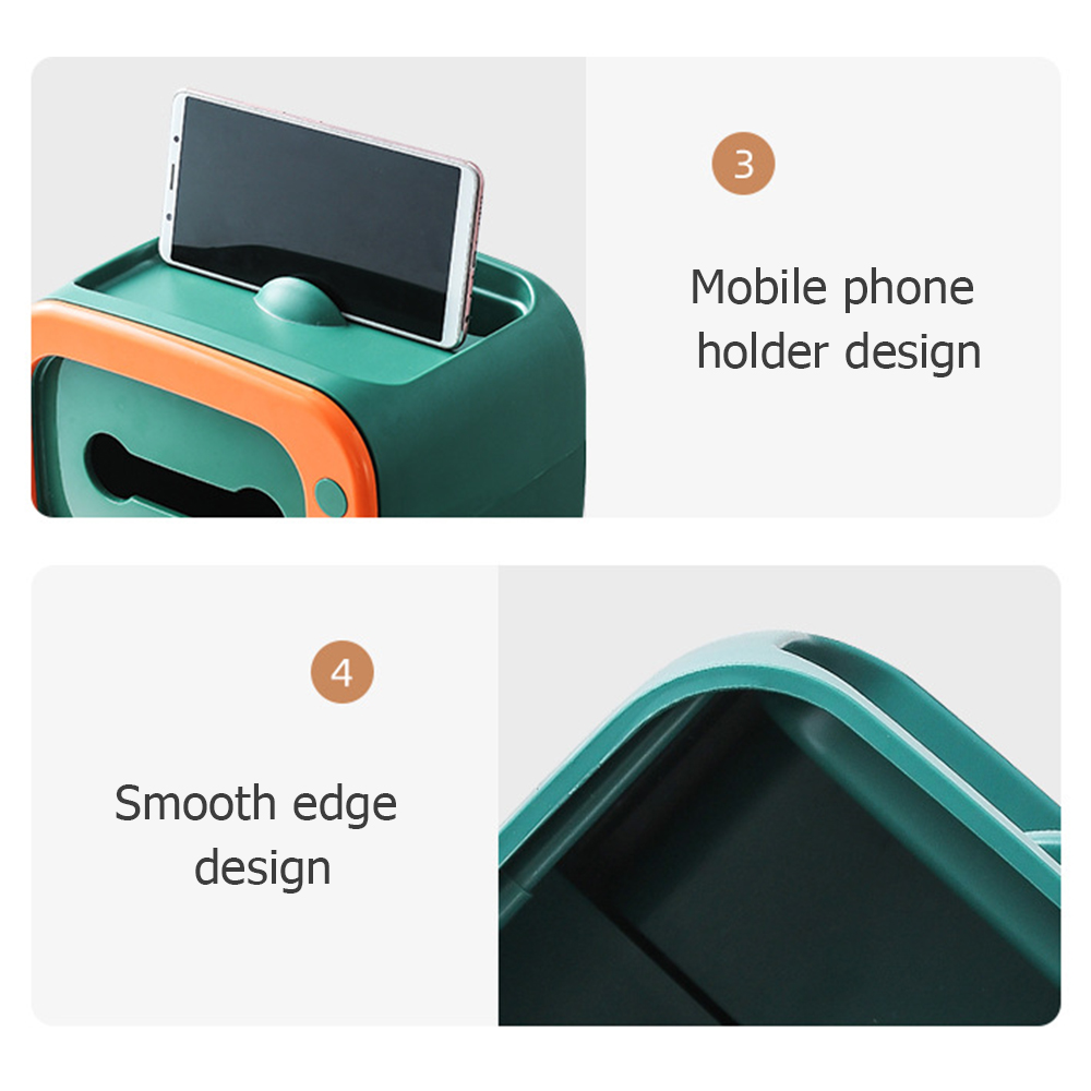 multifuncional com suporte do telefone caixa tecido
