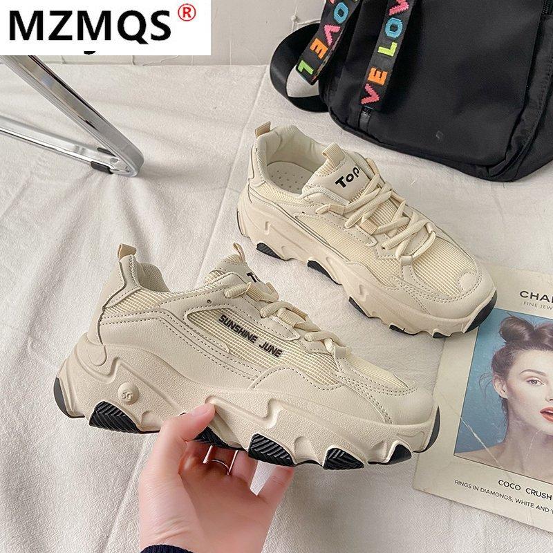 Кроссовки женские на шнуровке, Вулканизированная подошва, низкий каблук, Повседневная Удобная Уличная обувь, круглый носок, осень 2021,