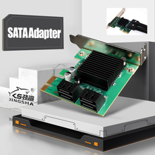 Add On Cards 4 port SATA 3.0 to PCIe Expansion Card PCI Express SATA Adapter PCI-e SATA 3 Converter For Hdd SSD IPFS Mining