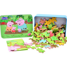 Peppa pig wooden puzzles toys animal cartoon puzzles wooden Jigsaw baby child early educational toys Peppa pig birthday gift peppa pig toys doll train car house scene building blocks action figures toys early learning educational toys birthday gift