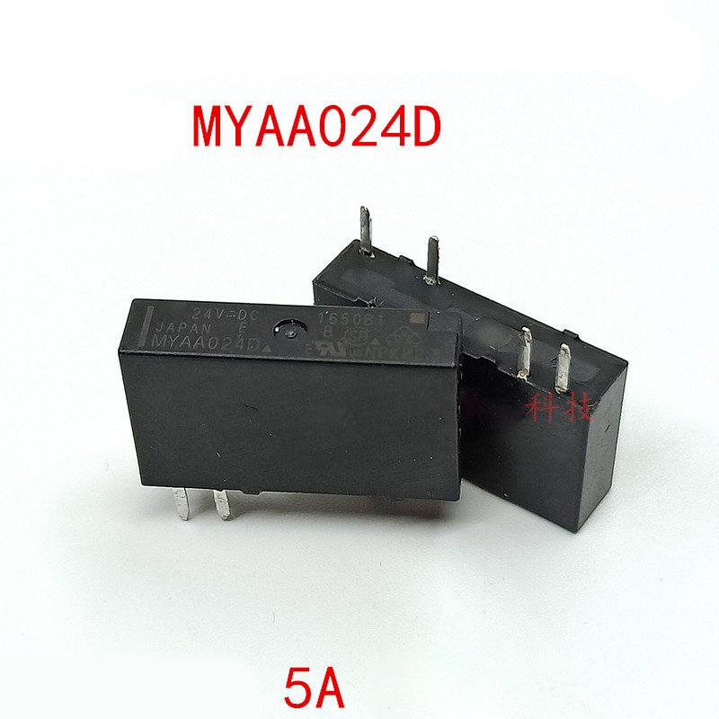 New 100% 10pcs/lot MYAA024D <font><b>24V</b></font> <font><b>5A</b></font> <font><b>4pin</b></font> aliexpress image