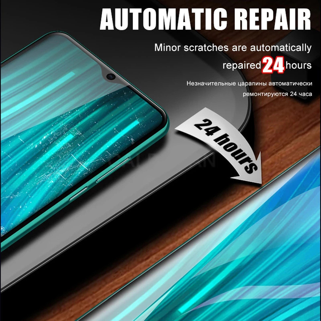 9999D Hydrogel Film For Xiaomi Redmi Note 10 9S 9 8 7 Pro 9A 8A Note 10 Pro Screen Protector mi 10T 9T Poco X3 M3 Pro Not Glass 4