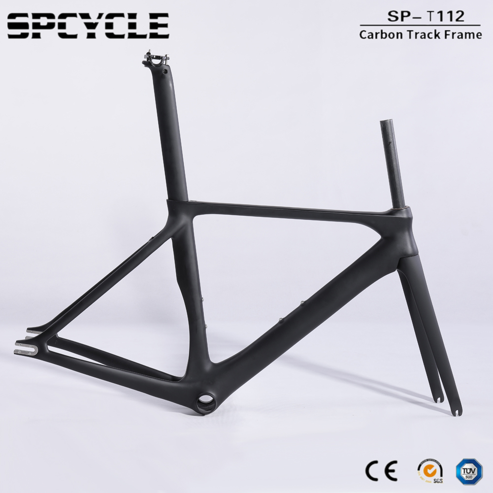 Spcycle Aero T1000 Full Carbon Track Bike Frame 700C Fixed Gear Bike Road Bicycle Carbon Frameset BB86 Size 50/53/56cm