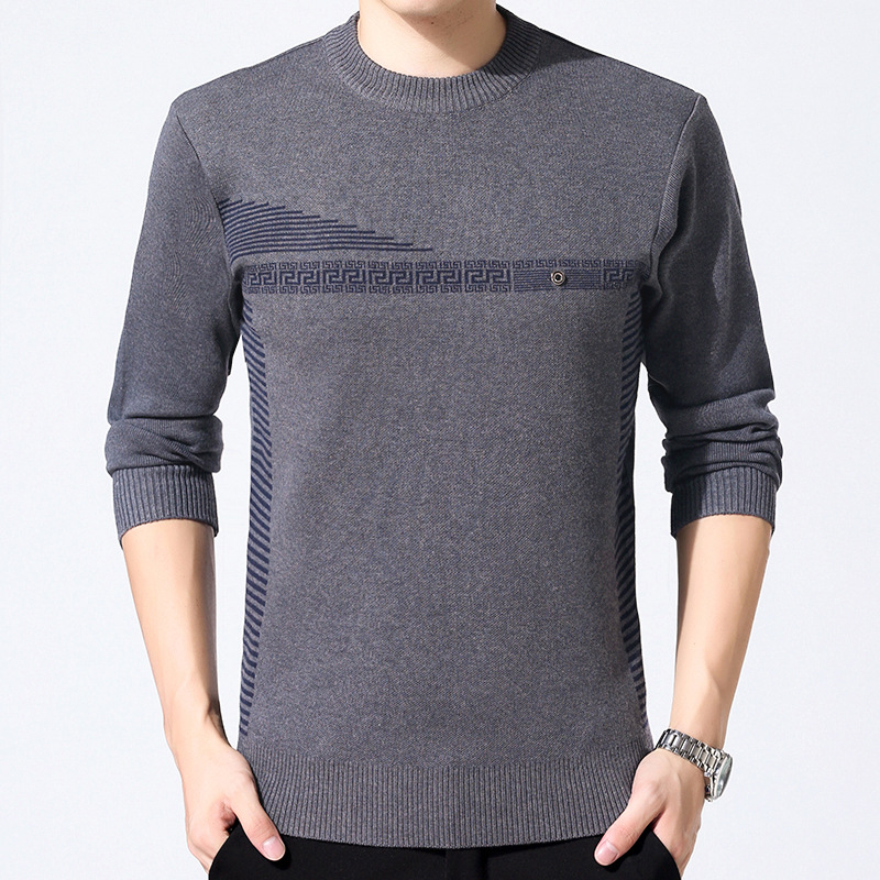 Men Sweater Winter O-neck Knitted Sweaters Men Casual Cashmere Pullovers Male Shirt Mens Fashion Patchwork Warm Knitting Jumper