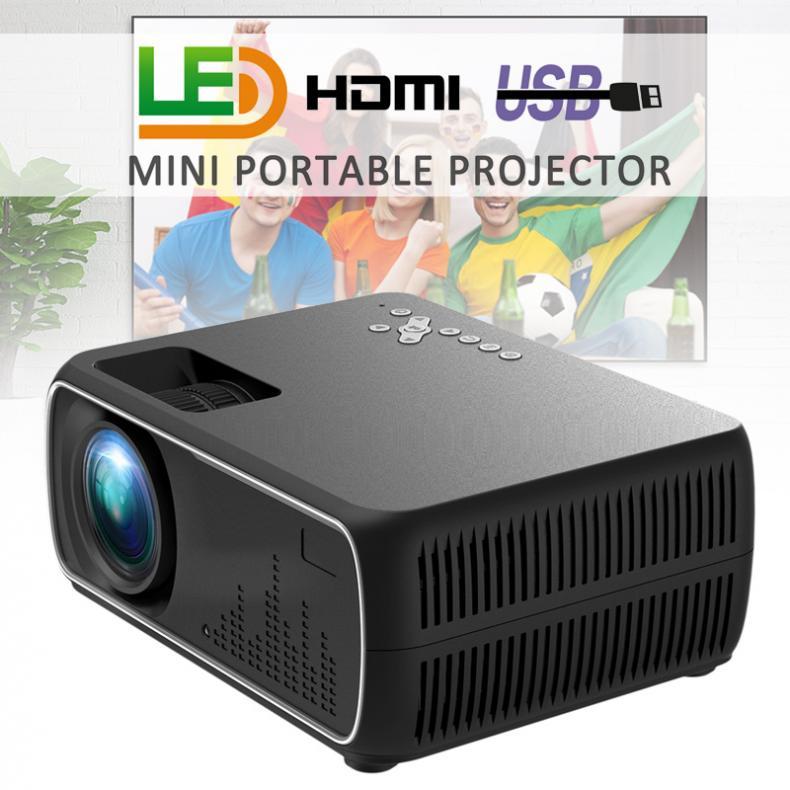 Lente de Cristal de alta definición 60W 2200 lúmenes 800x480P Video Home Cinema LED proyector de vídeo HD incorporado Proyección de altavoz Mini cámara para niños juguetes educativos para niños regalos para bebés cumpleaños cámara digital de regalo 1080P cámara de vídeo de proyección