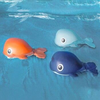 Baby Beach Bath Toy Cartoon Animal Clockwork Swimming Whale Wind Up Children Wash Play Toddler Girl Bathroom Shower Classic Toys 2