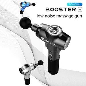 Image 2 - Impulsionador 2500 mah pistola de massagem profunda músculo volta massageador pistolet para a dor relaxamento fitness moldar emagrecimento terapia vibrador caixa