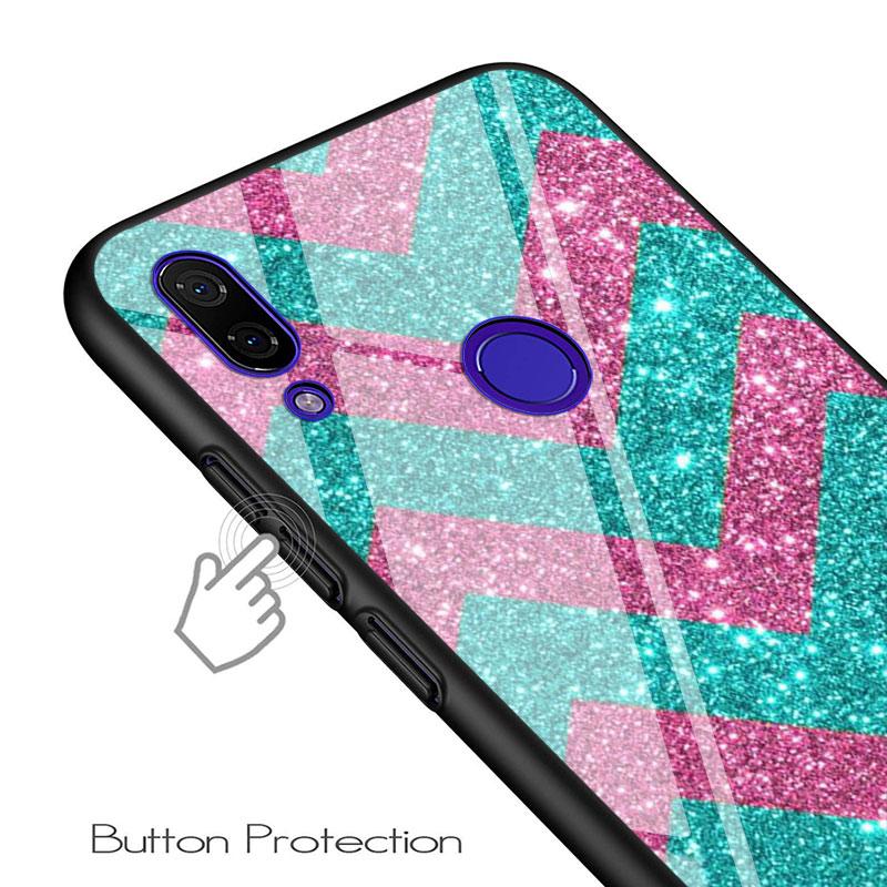 For Xiaomi Redmi Note 9 Max 8T 8 7 6 Pro Gloss Black Cover Curved stripes For Redmi Note 5 Pro 5A 4 4X Phone Case