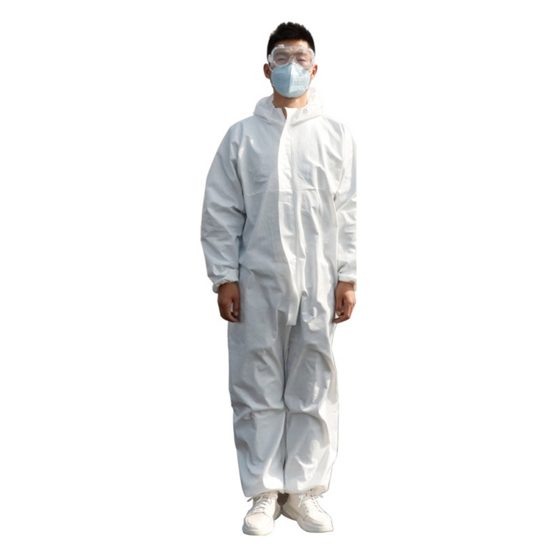 One Time Disposable Waterproof Oil-Resistant Protective Coverall For Spary Painting Decorating Clothes Overall Suit Workwear !