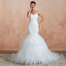 Женское кружевное платье русалка белое/цвета слоновой кости