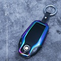 Zinc Alloy Metal Car LCD Key Case Remote Cover Key Chain Keychain Holder Pouch Bag For BMW 5 7 Series 2018 530Li 730i|Key Case for Car| |  -