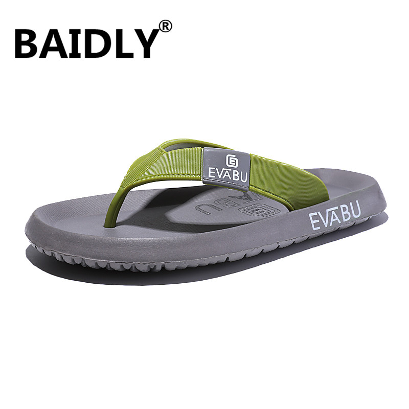 Outdoor Slippers Flip-Flops Summer Comfortable Beach Leisure-Style Men title=