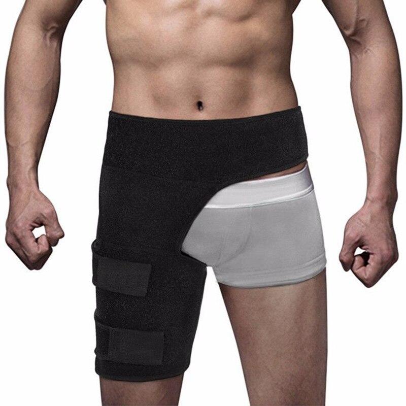 Protège-cuisse Sport protège-muscles coussinets Muslo soutien Fitness Leggings taille jambe Compression Sport sécurité protecteur