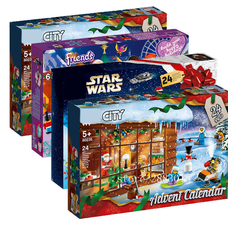New City Star Wars Advent Calendar Girl Friends Set Building Block Bricks Toys Christmas Xmas Gift With 75245 75964 60235 image