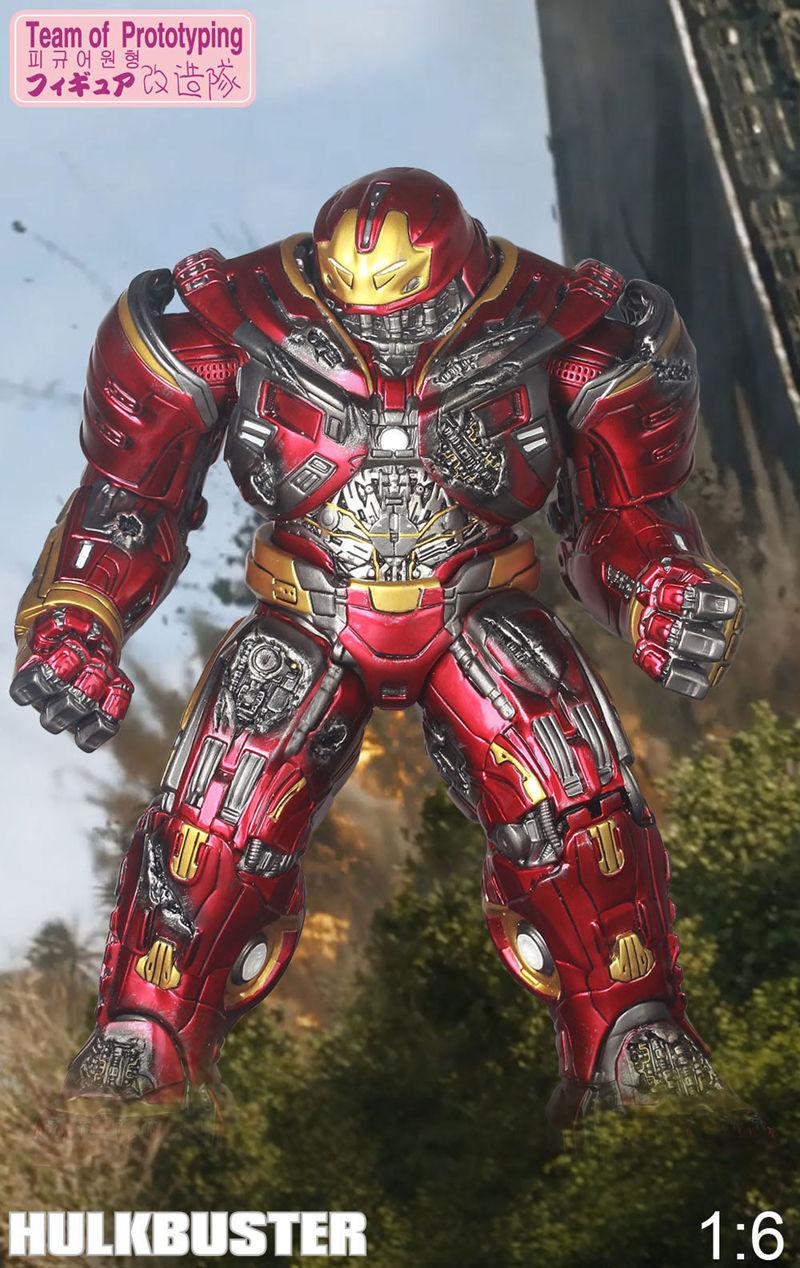 Team Of Prototyping Marvel Avengers Hulkbuster 30cm Ironman Hulk Super Hero Statue PVC Action Figure Collectible Model Toys