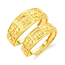 Stainless steel couple national wind ring eternal life blessing gift gold opening bohemian jewelry VR682