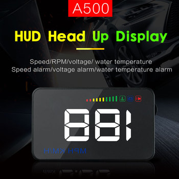 A500 3.5 Inch Car HUD Head Up Display Speedometer OBD2 OBDII OBD Auto Projector         Parameter Display With Overspeed Warning car hud reflective film head up display system film obd fuel consumption overspeed display auto accessories
