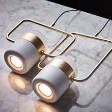 New postmodern led pendant lights plated rose gold wrought iron nordic simple hanging lamps dining room bedroom light fixtures(China)
