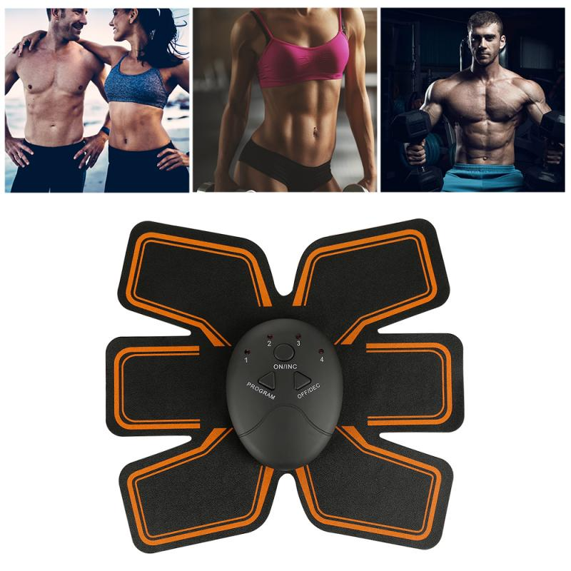 Abdominal Exerciser Muscle Sticker Stimulator Trainer Electric Vibrating Slimming Belt Fitness Massager ABS Abdominal Trainer
