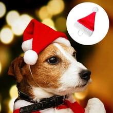 Кошка, собака, Санта, шляпа, плащ для домашних животных, карнавальный костюм, Рождественский котенок, щенок, красные шапки, вечерние наряды, рождественские шапки^ 40