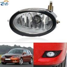 ZUK Front Bumper Fog Light Fog Lamp With Bulb Trim Cover For Mazda 3 Axela M3 2003-2010 1.6L Anti-Fog Light Foglamp