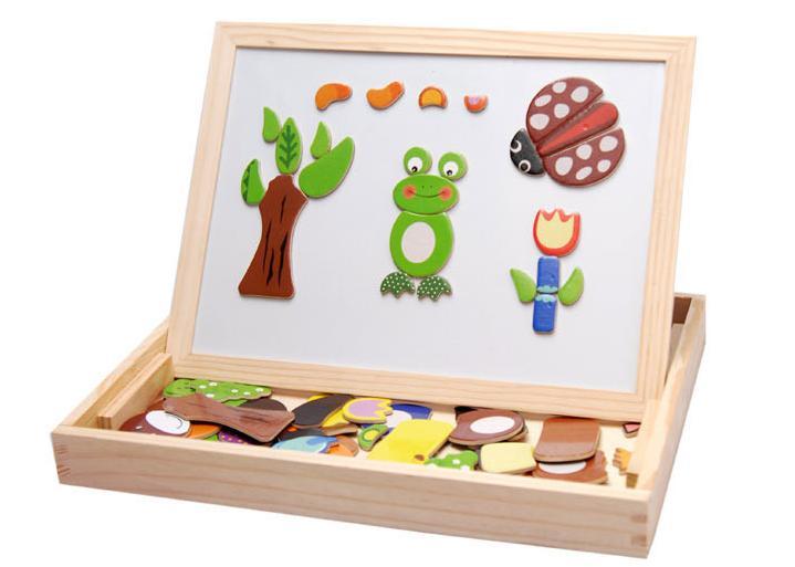 Δωρεάν αποστολή ξύλινο παζλ ζώο μαγνητισμός 3D παζλ παιχνίδι παιδιών εκπαιδευτικό ξύλινο κλασικό παιχνίδι παζλ παιδί καρτούν δώρο παζλ
