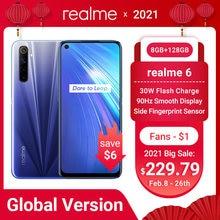 Глобальная версия realme 6 8 Гб 128 мобильный телефон на процессоре